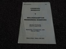 Liverpool Reserves v Wolverhampton Wanderers Reserves, 2005/06